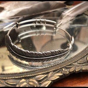 Alex & Ani Spiritual Armor Plume Bangle Bracelet